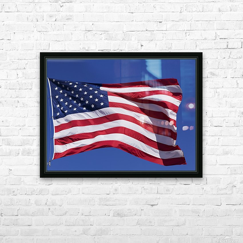 American Flag; Pahreah, Utah, United States of America HD Sublimation Metal print with Decorating Float Frame (BOX)