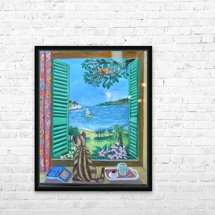 view from a window HD Sublimation Metal print with Decorating Float Frame (BOX)