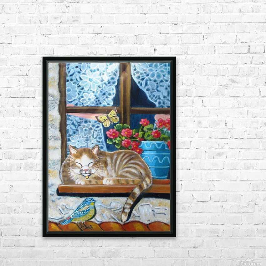 catnap HD Sublimation Metal print with Decorating Float Frame (BOX)