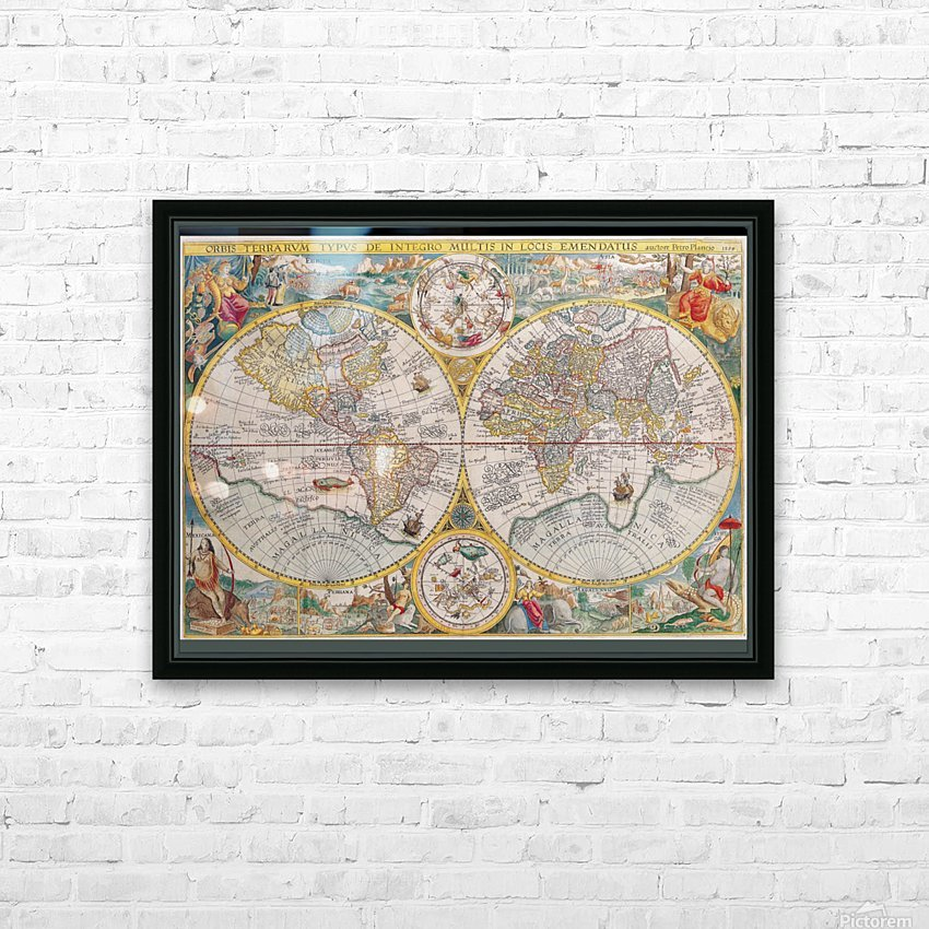 map 595794 HD Sublimation Metal print with Decorating Float Frame (BOX)