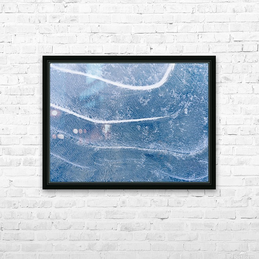 Abstract Patterns In The Ice During Winter Along The Tony Knowles Coastal Trail, Anchorage, Southcentral Alaska HD Sublimation Metal print with Decorating Float Frame (BOX)