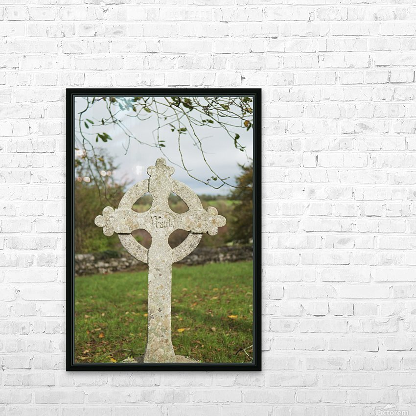 A celtic cross tombstone;Ireland HD Sublimation Metal print with Decorating Float Frame (BOX)