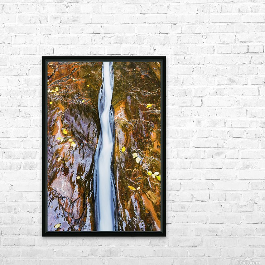 Water flowing in beautiful stone rivet along the subway trail in zion national park;Utah, united states of america HD Sublimation Metal print with Decorating Float Frame (BOX)