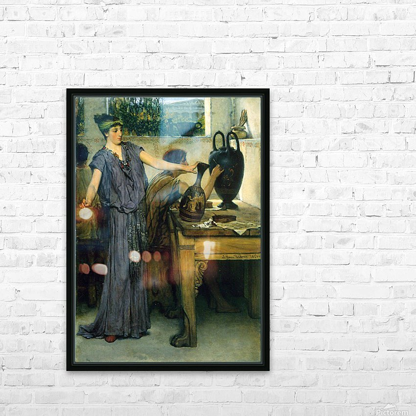 Pottery Painting by Alma-Tadema HD Sublimation Metal print with Decorating Float Frame (BOX)