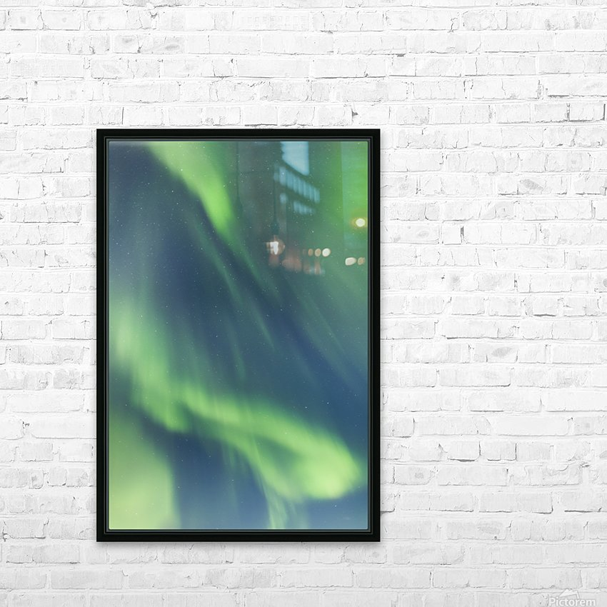Northern Lights In The Sky Above The Chena Lakes Recreation Area; Fairbanks, Alaska, United States Of America HD Sublimation Metal print with Decorating Float Frame (BOX)