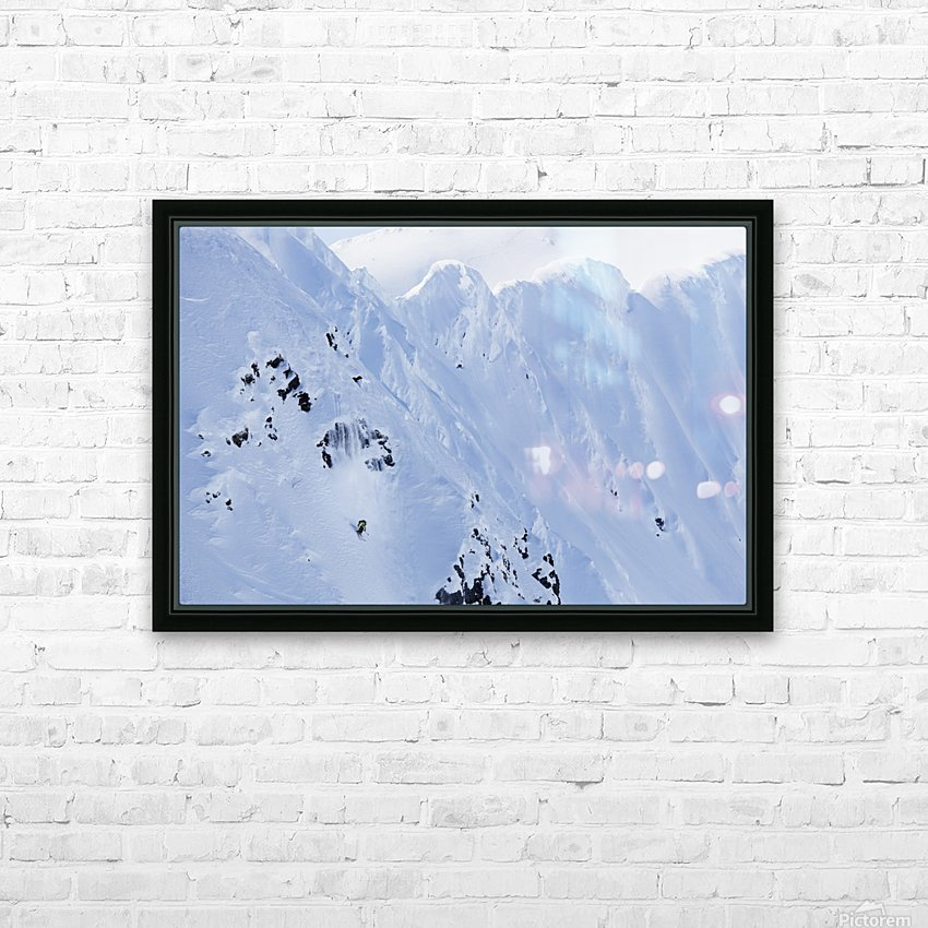 Backcountry Skiing In The Chugach Mountains In Late Winter; Southcentral Alaska, United States Of America HD Sublimation Metal print with Decorating Float Frame (BOX)