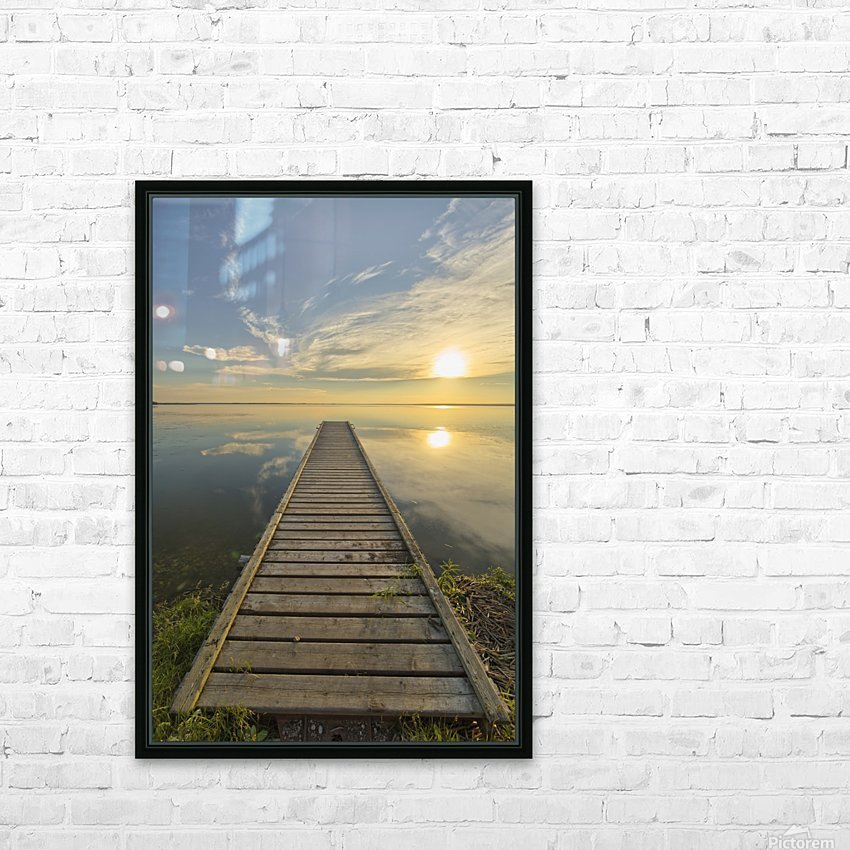 Wharf, Queen Elizabeth Provincial Park; Alberta, Canada HD Sublimation Metal print with Decorating Float Frame (BOX)