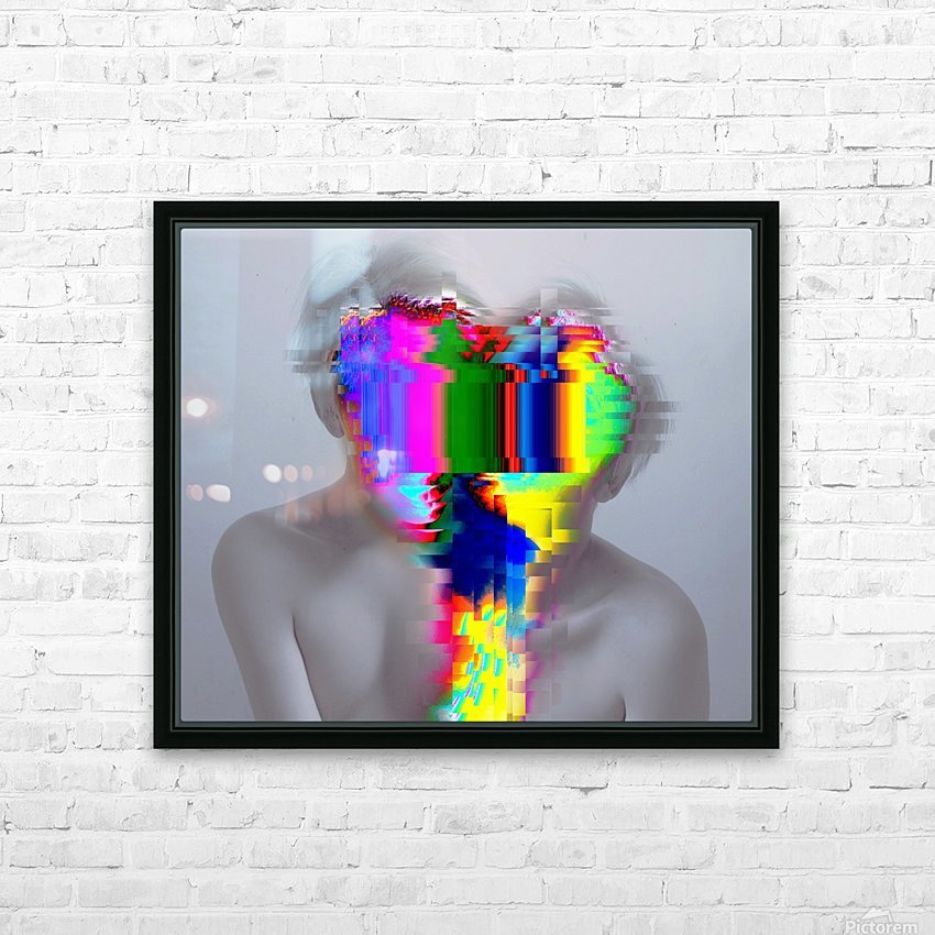 Glitch Serie HD Sublimation Metal print with Decorating Float Frame (BOX)
