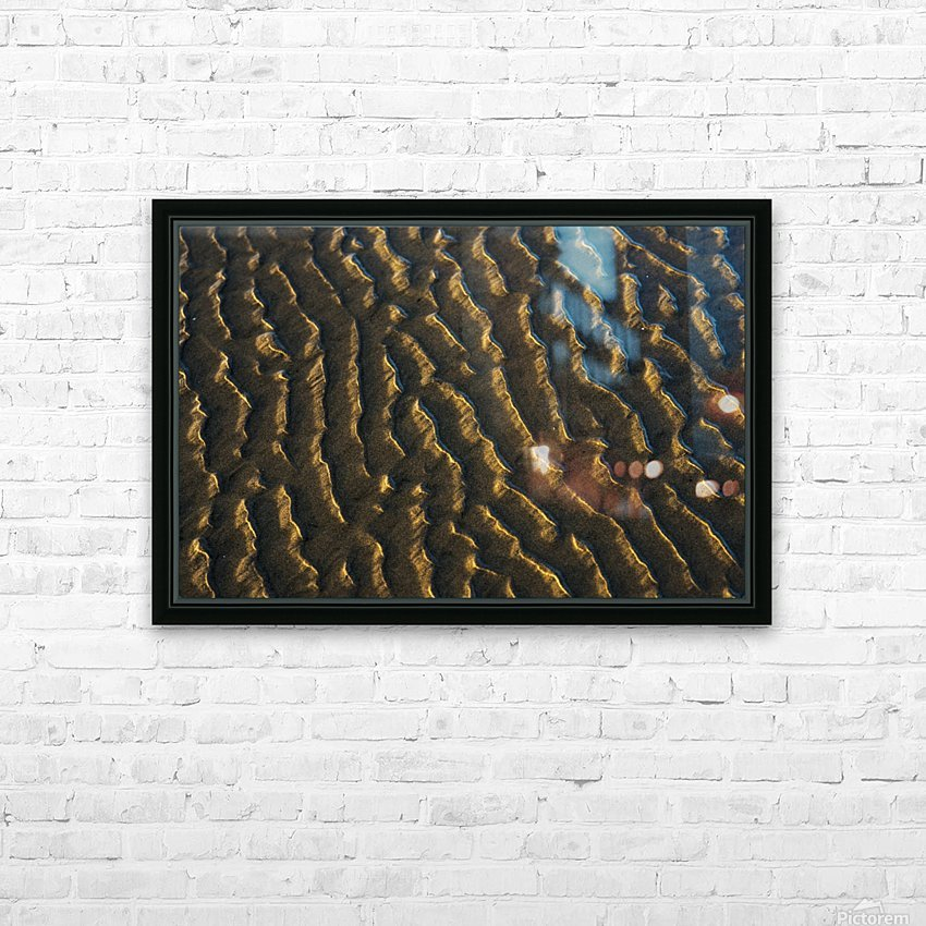 Low tide reveals patterns on the beach; Cannon Beach, Oregon, United States of America HD Sublimation Metal print with Decorating Float Frame (BOX)