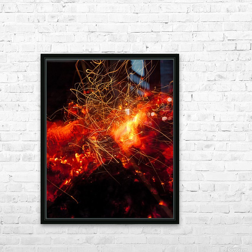 Fire Dance HD Sublimation Metal print with Decorating Float Frame (BOX)