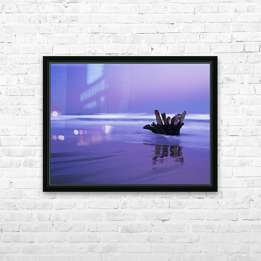 Waves break on the beach at dawn; Winchester Bay, Oregon, United States of America HD Sublimation Metal print with Decorating Float Frame (BOX)