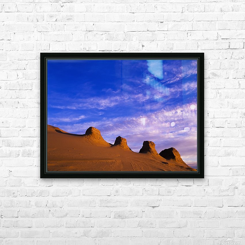 Storms carve sand dunes in peaks; Lakeside, Oregon, United States of America HD Sublimation Metal print with Decorating Float Frame (BOX)