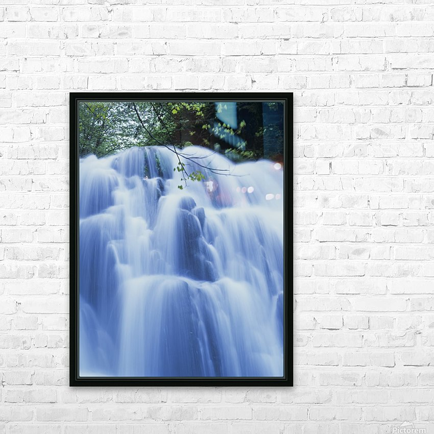 Sweet Creek waterfalls along the hiking trail; Mapleton, Oregon, United States of America HD Sublimation Metal print with Decorating Float Frame (BOX)