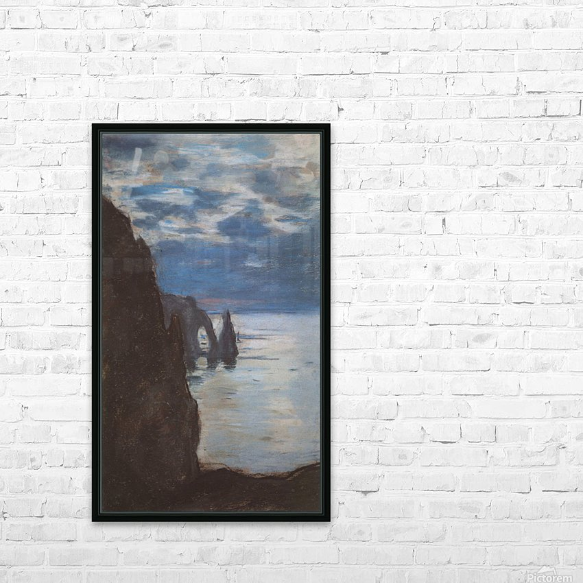 Etretat by Monet HD Sublimation Metal print with Decorating Float Frame (BOX)