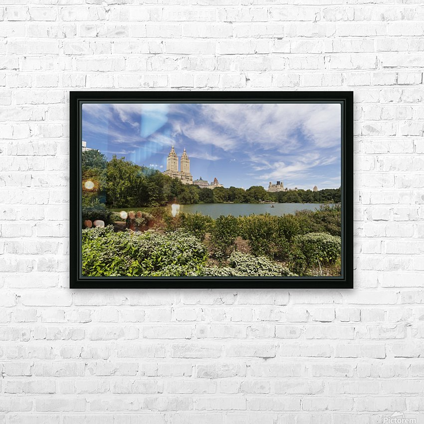 The Lake in Central Park, New York City, New York, United States HD Sublimation Metal print with Decorating Float Frame (BOX)