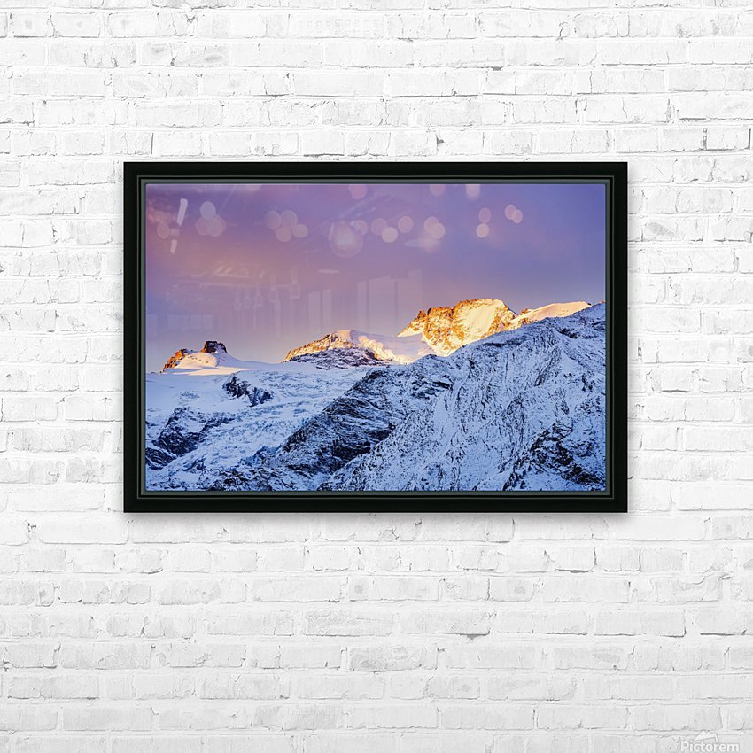 Mont Gran Paradiso, Gran Paradiso National Park; Italy HD Sublimation Metal print with Decorating Float Frame (BOX)