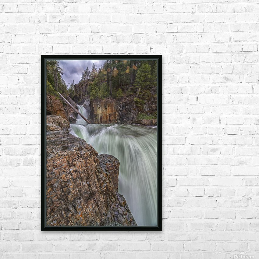 Myra Falls, Strathcona Provincial park; British Columbia, Canada HD Sublimation Metal print with Decorating Float Frame (BOX)