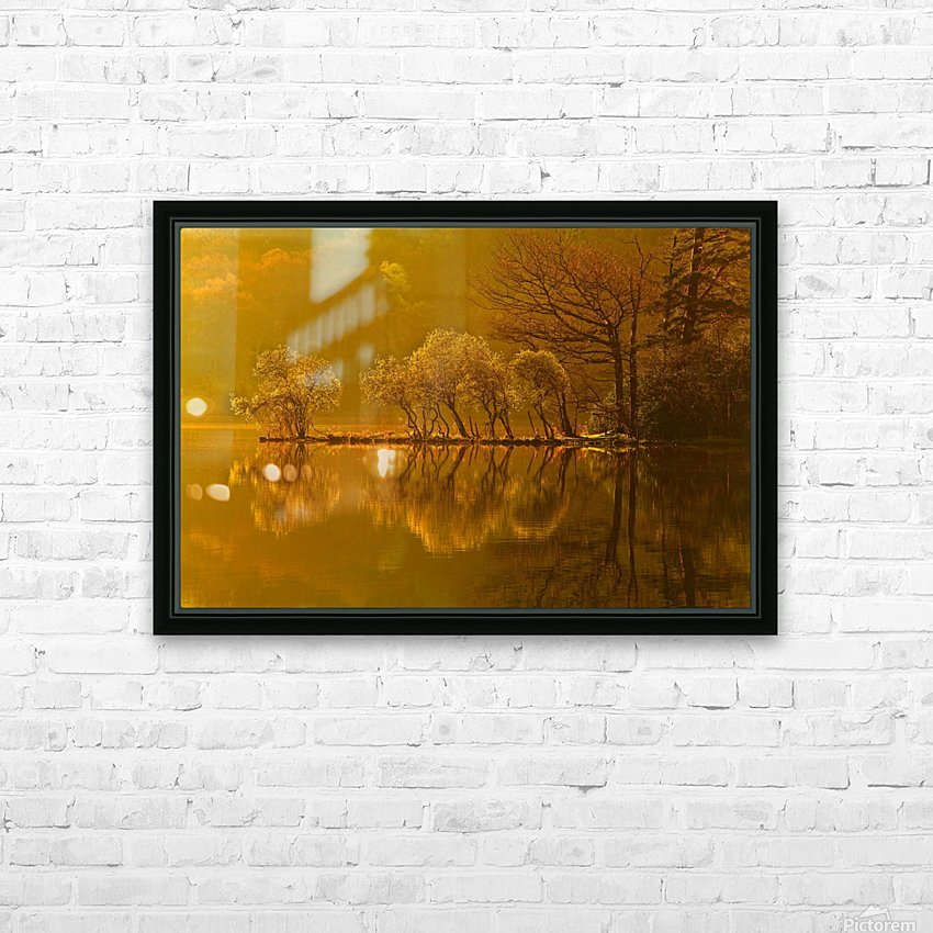 Gold Morning, Lake District, UK HD Sublimation Metal print with Decorating Float Frame (BOX)