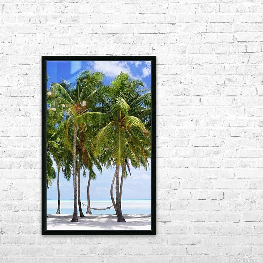 Aitutaki Lagoon Resort, Aitutaki, Cook Islands HD Sublimation Metal print with Decorating Float Frame (BOX)