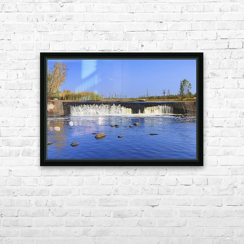 Rainbow Falls on the Whiteshell River in autumn, Whiteshell Provincial Park; Manitoba, Canada HD Sublimation Metal print with Decorating Float Frame (BOX)
