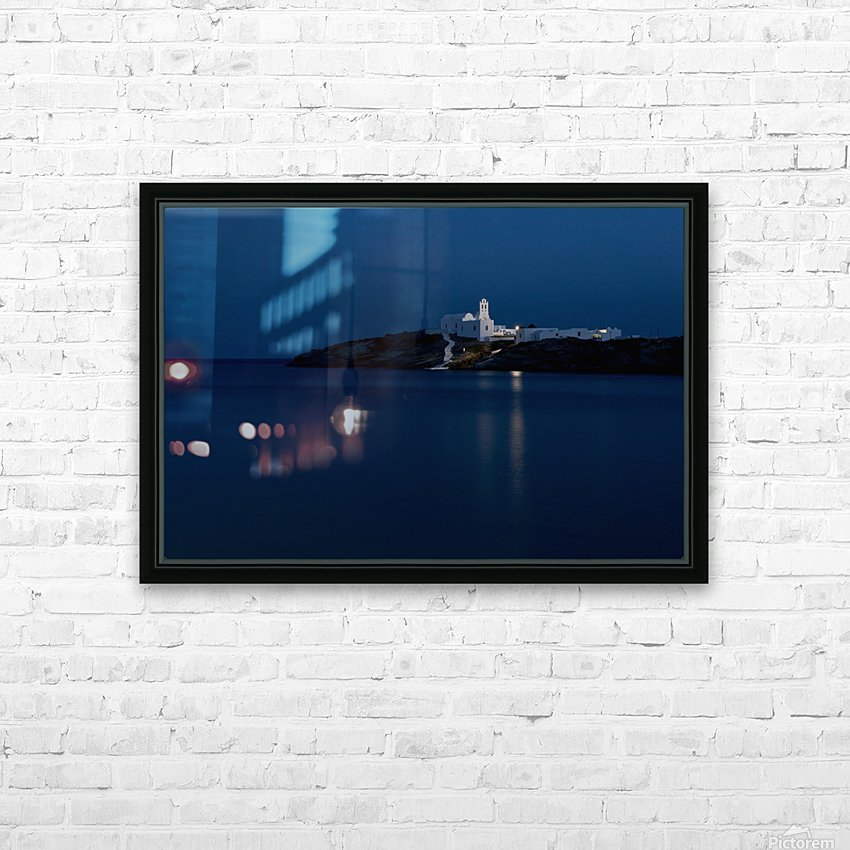 The Chrysopiyi Monsastery in Southeastern Sifnos at dusk; Sifnos, Cyclades, Greek Islands, Greece HD Sublimation Metal print with Decorating Float Frame (BOX)