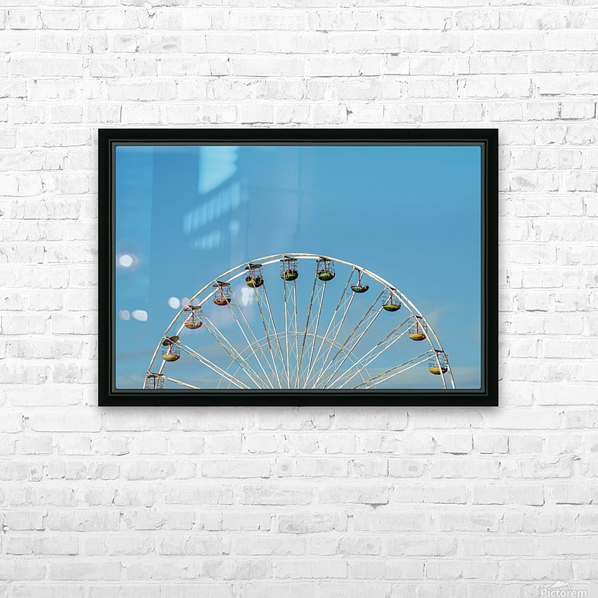 Ferris wheel at the Central Pier; Blackpool, England HD Sublimation Metal print with Decorating Float Frame (BOX)