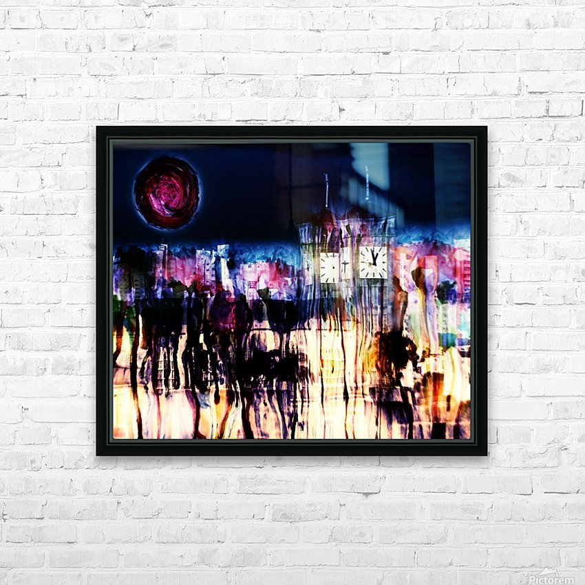 Cityscape Serie HD Sublimation Metal print with Decorating Float Frame (BOX)