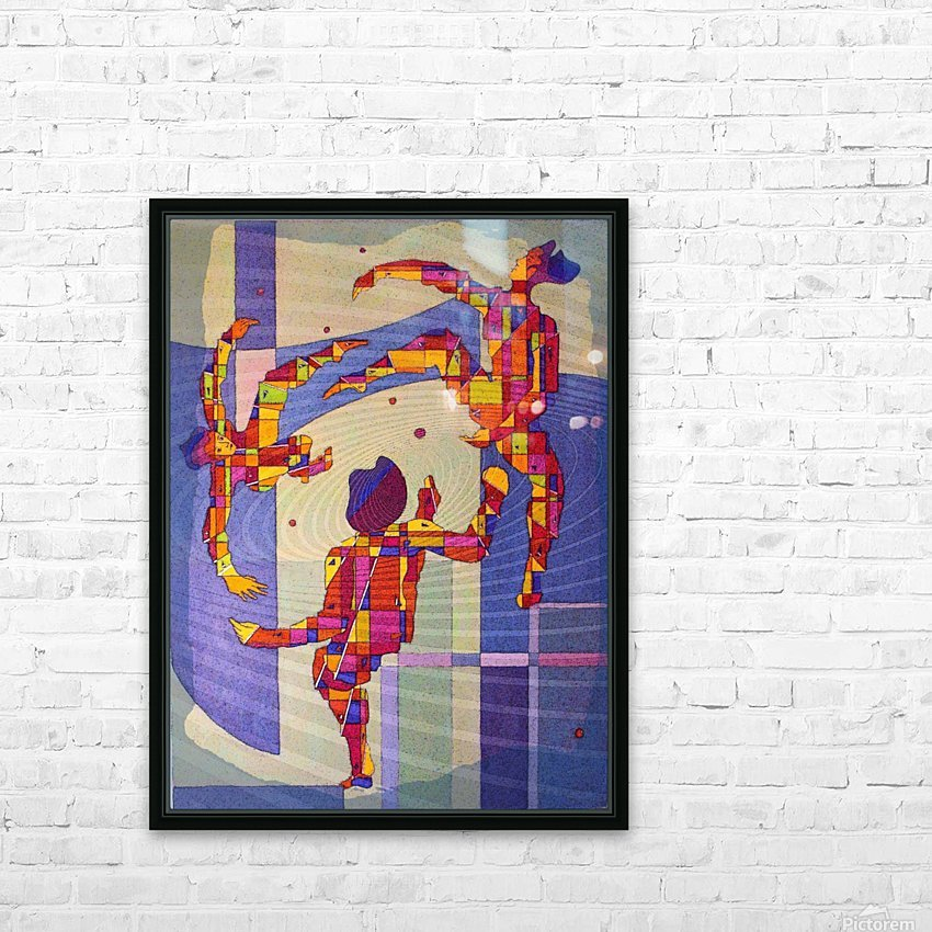 Juggling balls foot HD Sublimation Metal print with Decorating Float Frame (BOX)