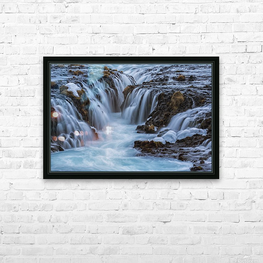 Turquoise water flowing over rocks into a river; Bruarfoss, Iceland HD Sublimation Metal print with Decorating Float Frame (BOX)