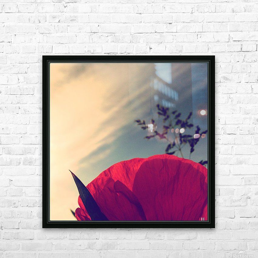 Poppy sky HD Sublimation Metal print with Decorating Float Frame (BOX)