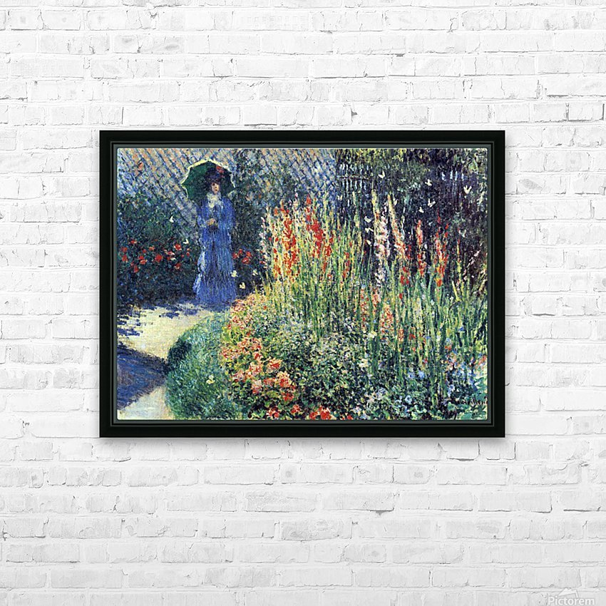 Gladiolas by Monet HD Sublimation Metal print with Decorating Float Frame (BOX)
