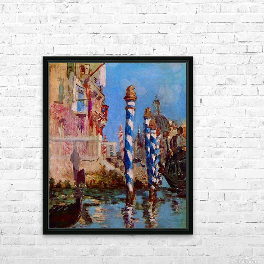 Grand Canal in Venice by Edouard Manet HD Sublimation Metal print with Decorating Float Frame (BOX)