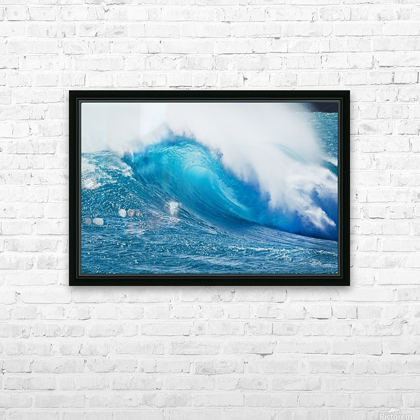 Beautiful Blue Ocean Wave HD Sublimation Metal print with Decorating Float Frame (BOX)