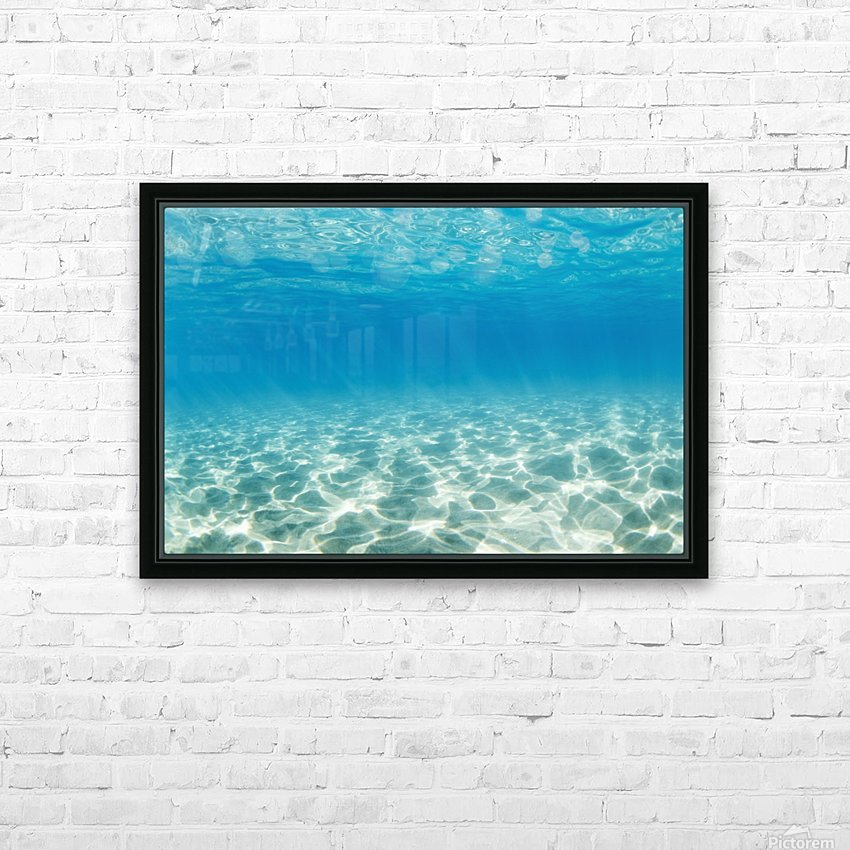 Underwater HD Sublimation Metal print with Decorating Float Frame (BOX)