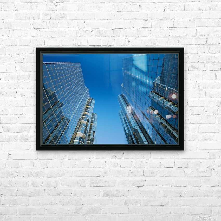 Sky Scrapers, Urban Buildings and Blue Sky HD Sublimation Metal print with Decorating Float Frame (BOX)