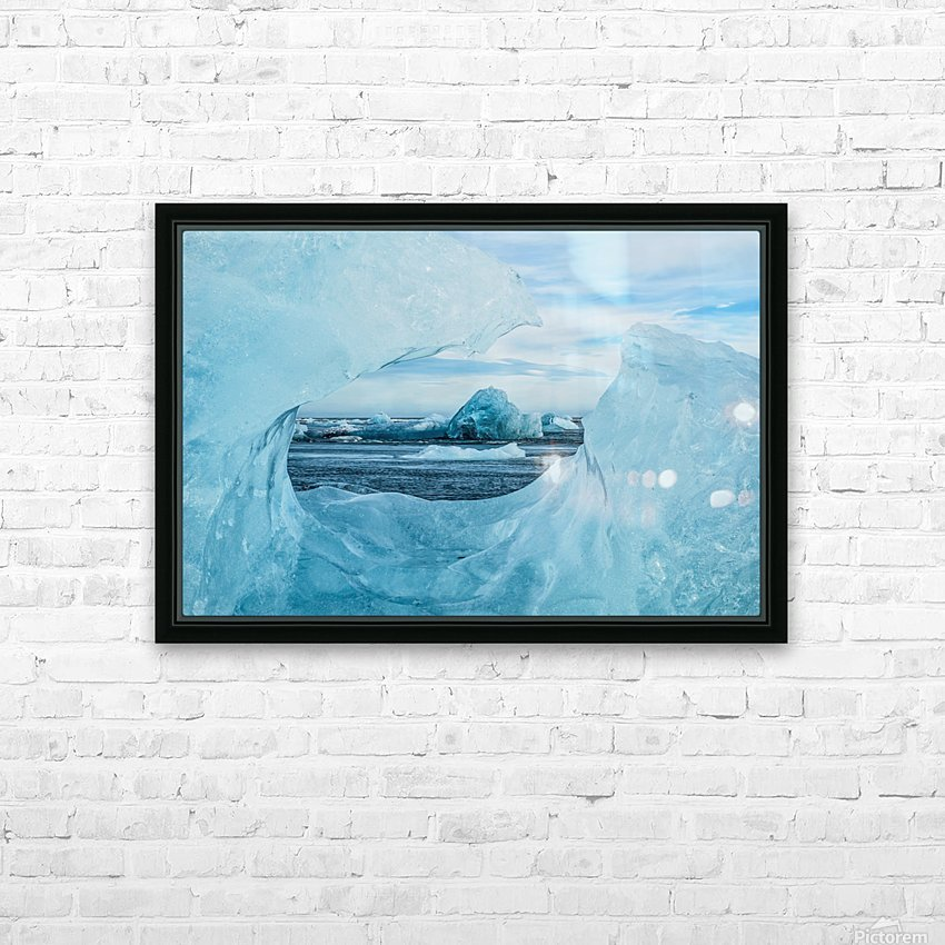 Icebergs on the southern beach near the ice lagoon of Jokursarlon; Iceland HD Sublimation Metal print with Decorating Float Frame (BOX)