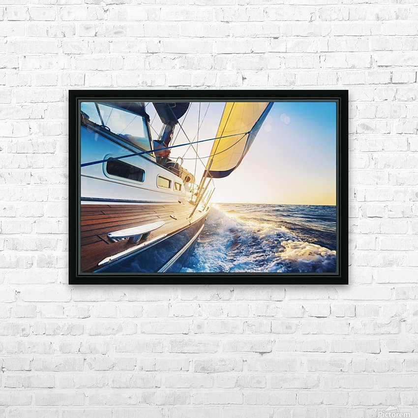 sailing into the sunset HD Sublimation Metal print with Decorating Float Frame (BOX)