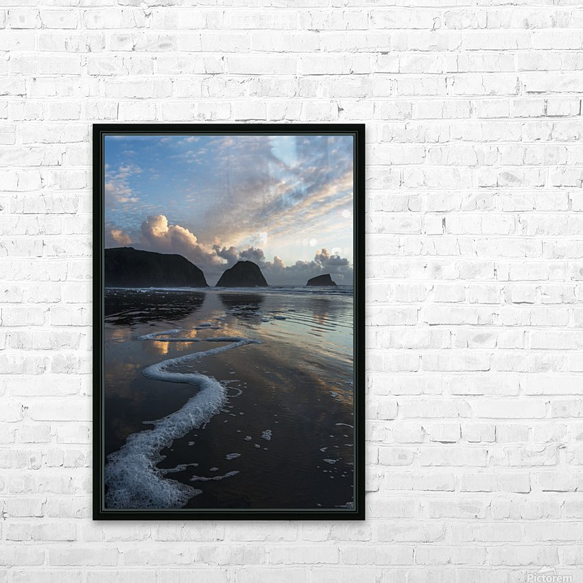 Dusk approaches on Crescent Beach; Cannon Beach, Oregon, United States of America HD Sublimation Metal print with Decorating Float Frame (BOX)