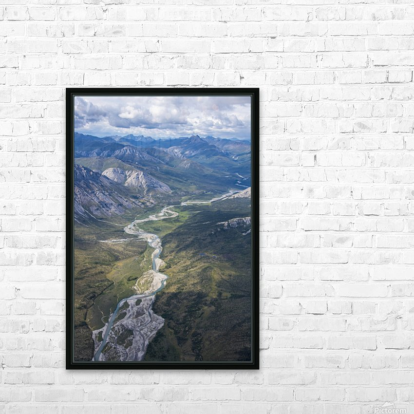 Aerial View of the Brooks Range in summer, ANWR, Alaska HD Sublimation Metal print with Decorating Float Frame (BOX)