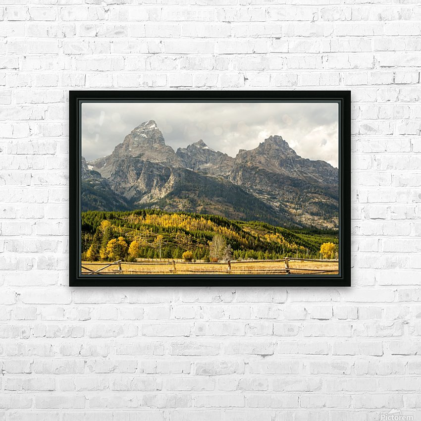 Grand Teton range in autumn, Grand Teton National Park; Wyoming, United States of America HD Sublimation Metal print with Decorating Float Frame (BOX)
