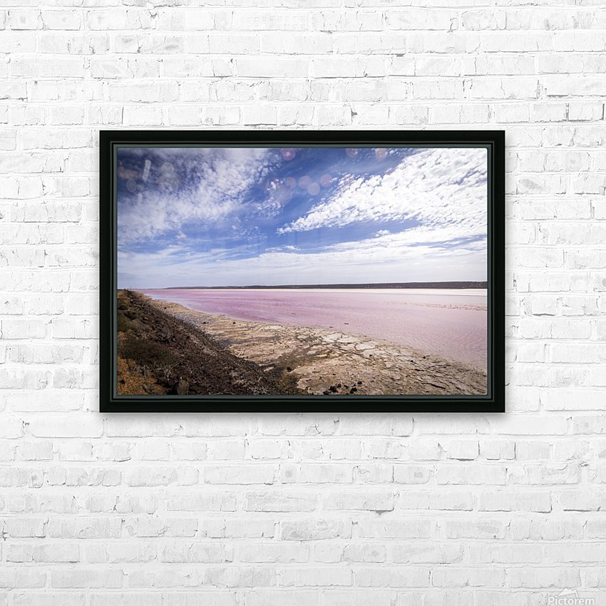 Pink Lake HD Sublimation Metal print with Decorating Float Frame (BOX)