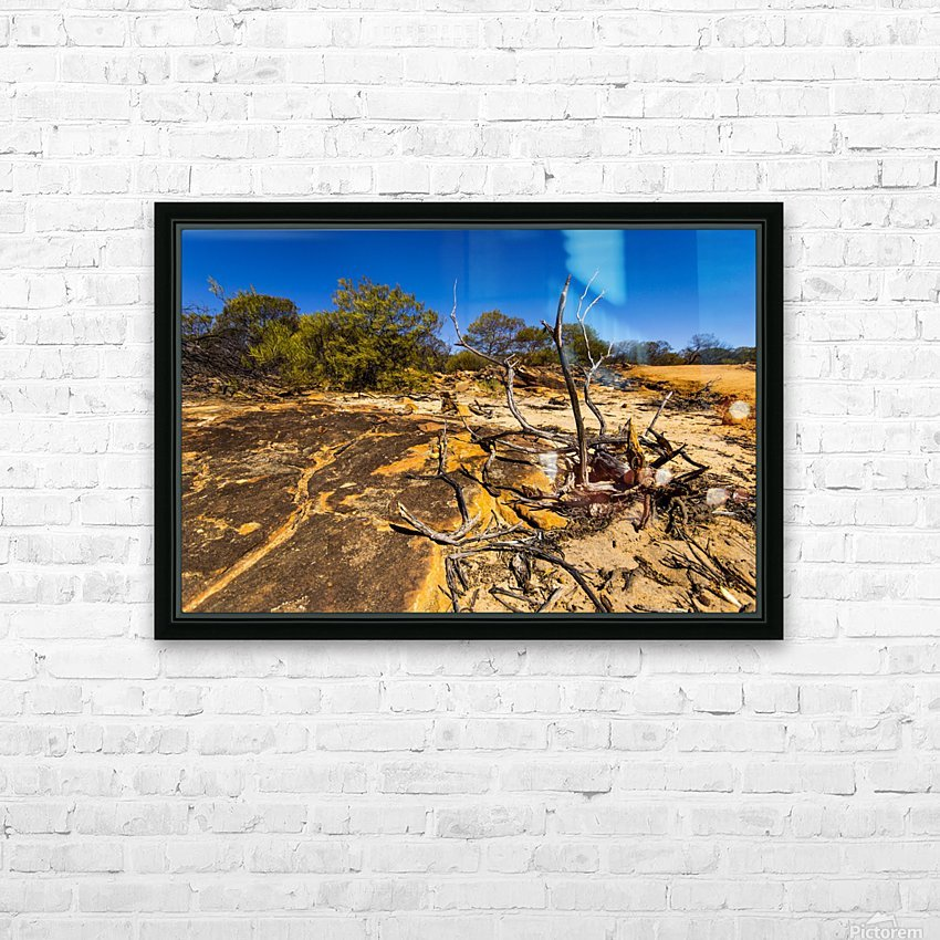 Kalbarri Canyon HD Sublimation Metal print with Decorating Float Frame (BOX)