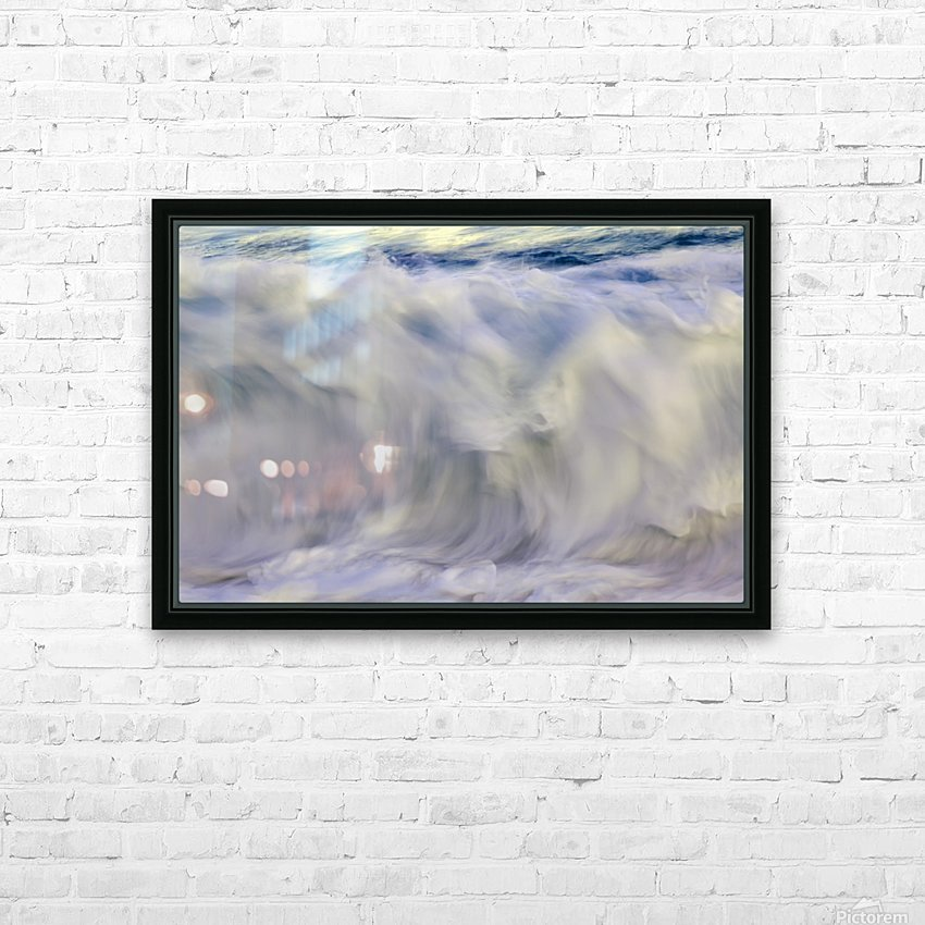 Ocean wave blurred by motion; Hawaii, United States of America HD Sublimation Metal print with Decorating Float Frame (BOX)