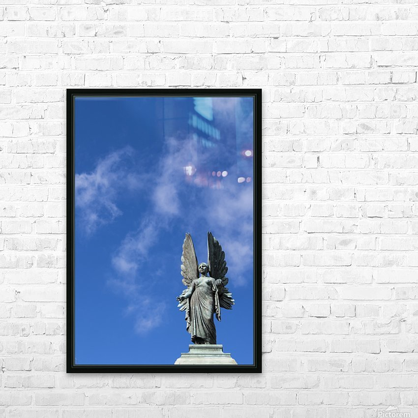 Angel overlooking Parade Gardens; Bath, Somerset, England HD Sublimation Metal print with Decorating Float Frame (BOX)