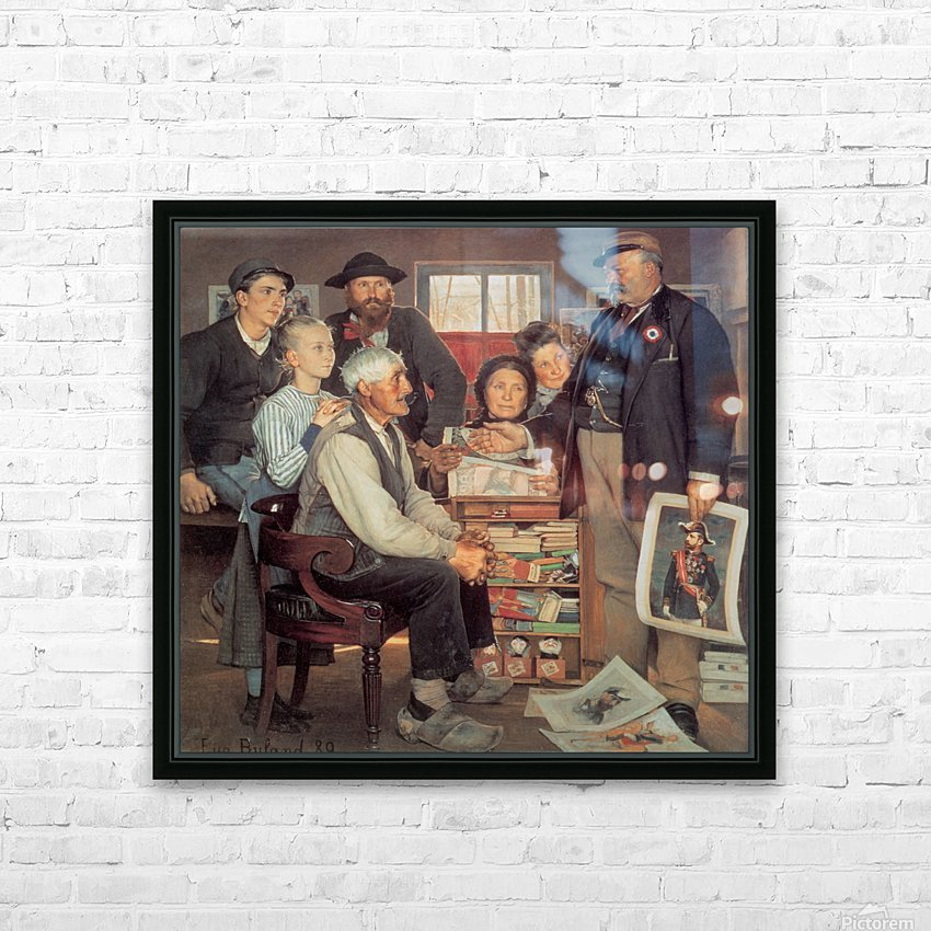 A large family HD Sublimation Metal print with Decorating Float Frame (BOX)