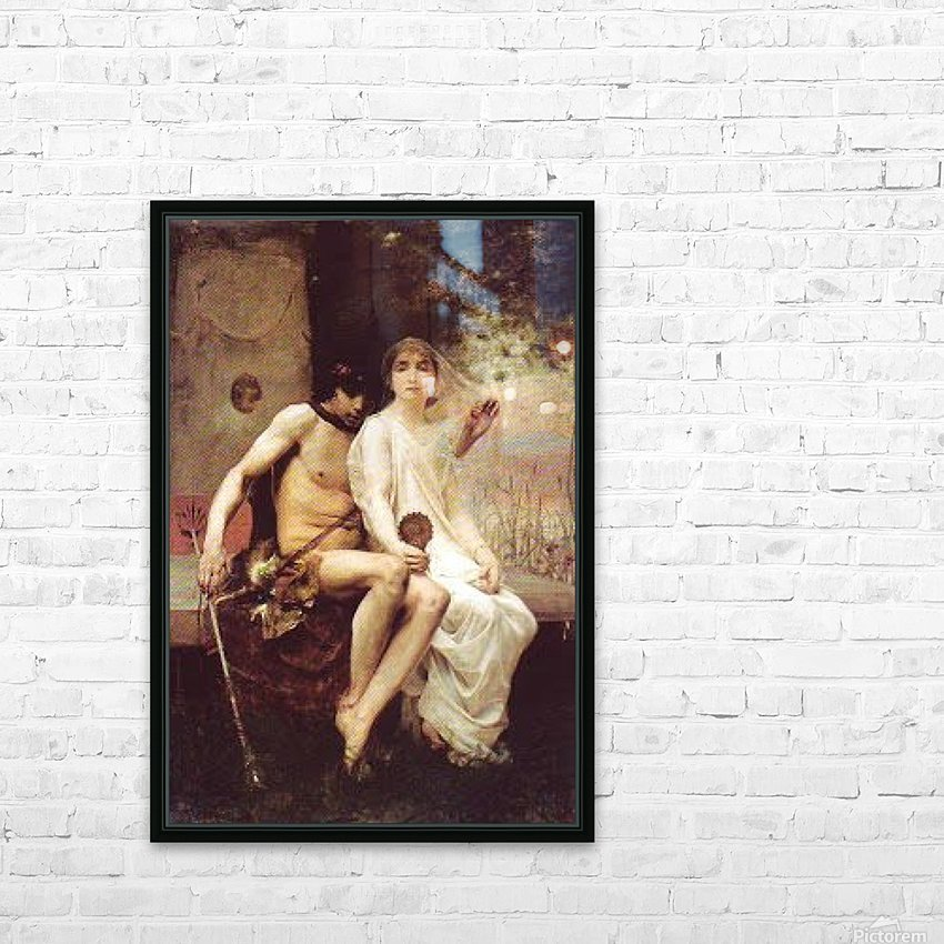 Lycenion et Daphnis HD Sublimation Metal print with Decorating Float Frame (BOX)