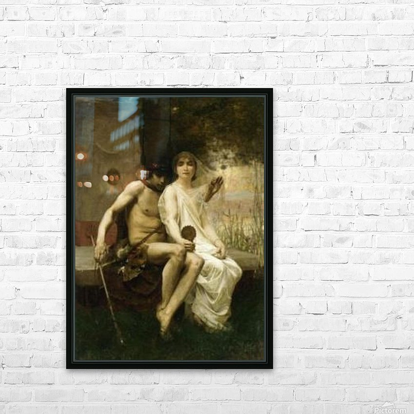 Eros and a young couple HD Sublimation Metal print with Decorating Float Frame (BOX)