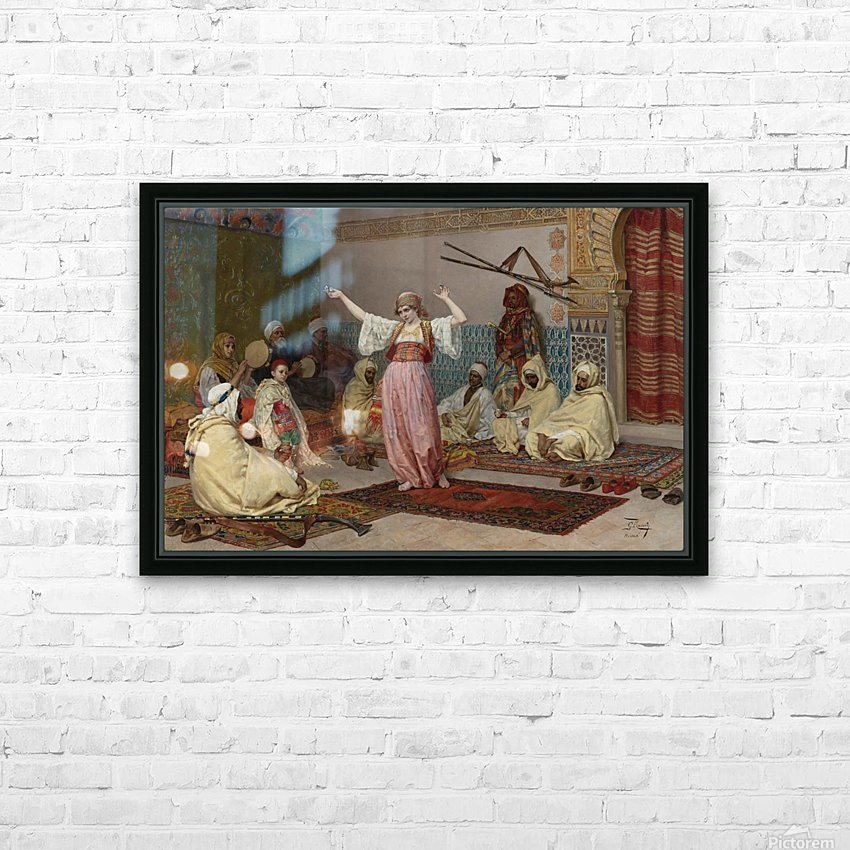 Oriental dance HD Sublimation Metal print with Decorating Float Frame (BOX)