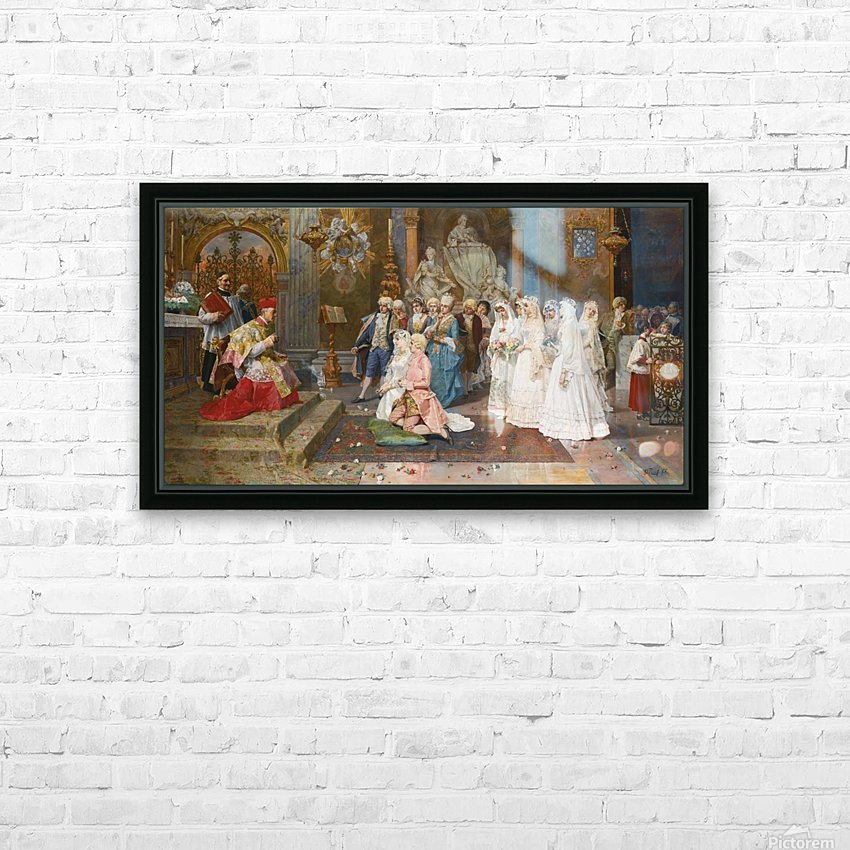 The wedding scene HD Sublimation Metal print with Decorating Float Frame (BOX)