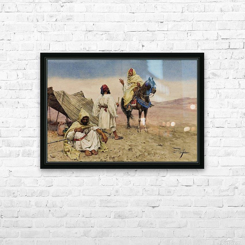 Nomades du desert HD Sublimation Metal print with Decorating Float Frame (BOX)